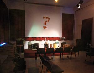image: Sala Polivalente in allestimento