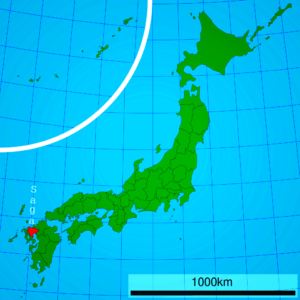 image: map of Japan with highlighted Saga